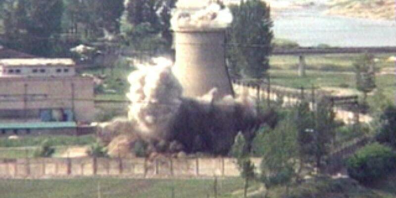 Schließung von Atomgelände in Nordkorea - Foto: APTN/AP