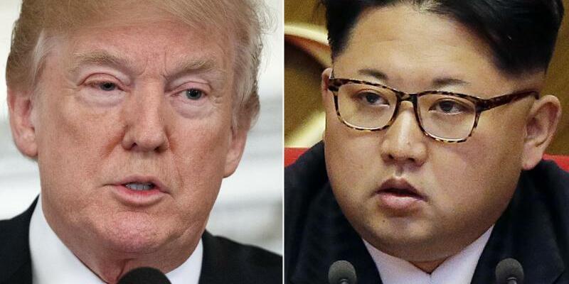 Trump und Kim - Foto: Evan Vucci/Wong Maye-E, AP
