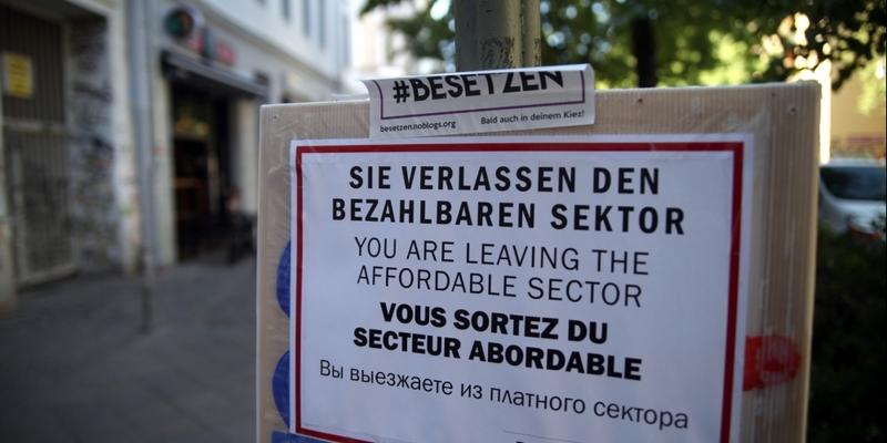 Plakat von Gentrifizierungsgegnern in Berlin - Foto: über dts Nachrichtenagentur