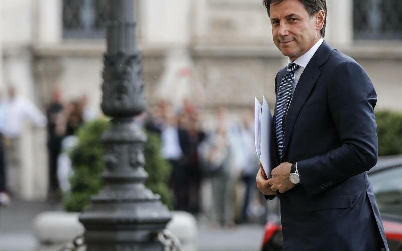 Conte bei Präsident Mattarella - Foto: Fabio Frustaci/ANSA/AP