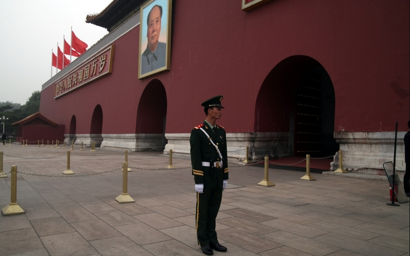 Sicherheitsbeamter vor Tor des Himmlischen Friedens - Foto: über dts Nachrichtenagentur