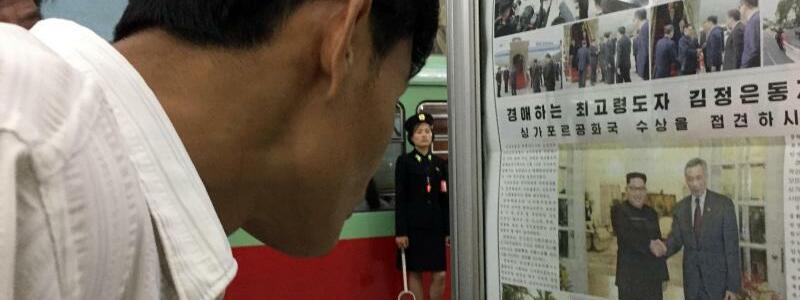 Nachrichten in Pjöngjang - Foto: Eric Talmadge/AP