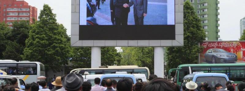 Übertragung in Pjöngjang - Foto: Jon Chol Jin/AP