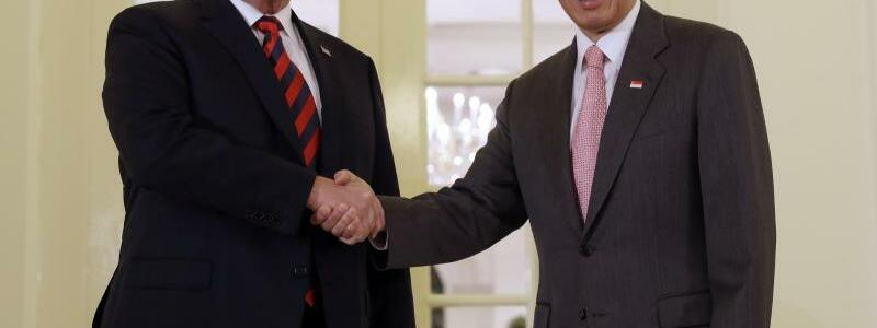 Lee Hsien Loong und Trump - Foto: YNA
