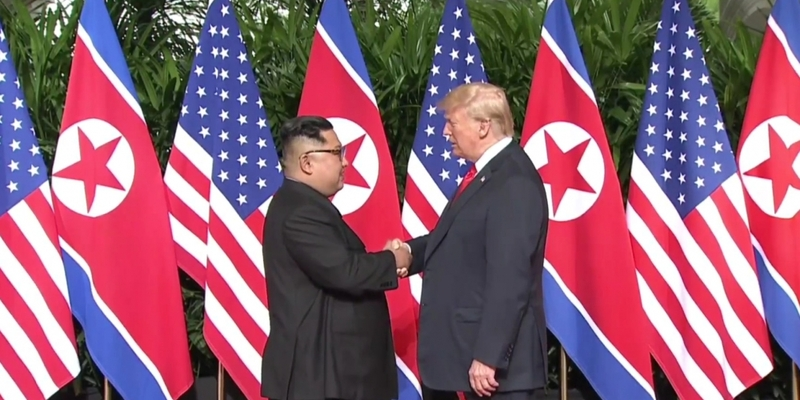 Kim und Trump am 12.06.2018 - Foto: über dts Nachrichtenagentur