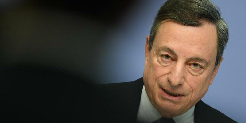 Draghi - Foto: Mario Draghi, Präsident der Europäischen Zentralbank (EZB). Foto:Arne Dedert