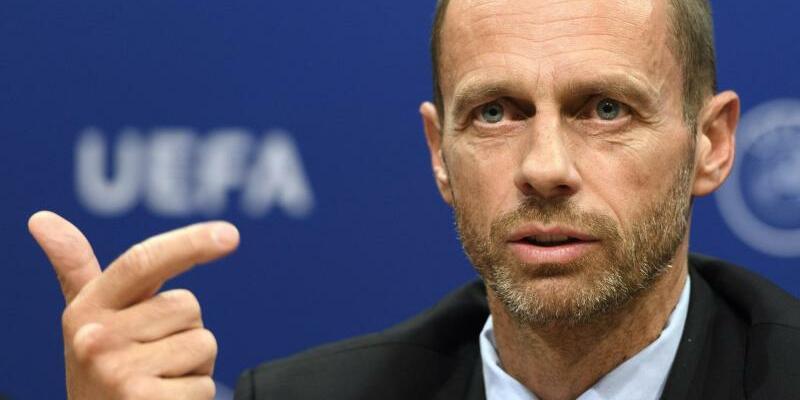England-Fan - Foto: UEFA-Präsident Aleksander Ceferin würde eine WM-Kandidatur Englands befürworten. Foto:Laurent Gillieron/KEYSTONE