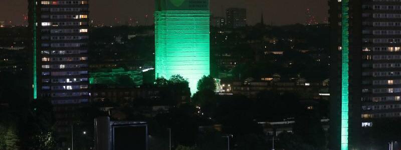 Grün angestrahlt - Foto: Jonathan Brady/PA Wire