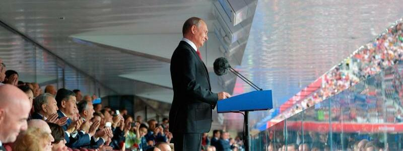 Eröffnungsrede - Foto: Alexei Druzhinin/Pool Sputnik Kremlin via AP
