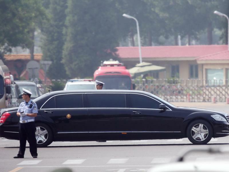 Kim Jong Un in Peking - Foto: YNA/dpa