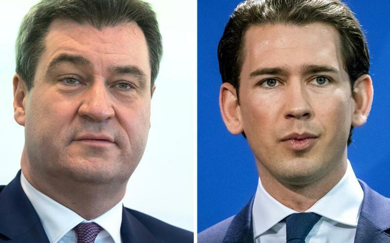 Markus Söder und Sebastian Kurz - Foto: Peter Kneffel/Michael Kappeler