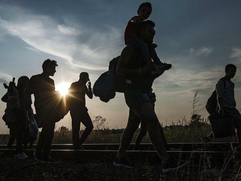 Flüchtlinge - Foto: Sandor Ujvari/MTI