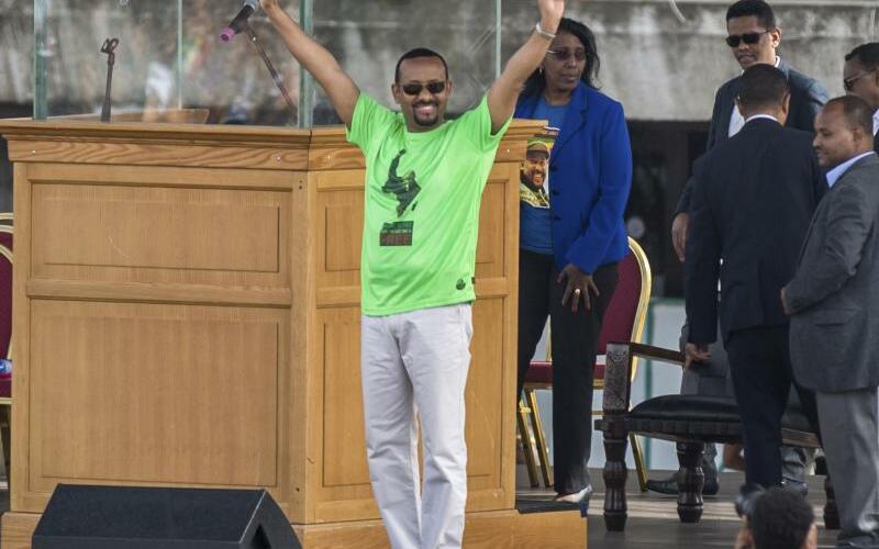 Wahlkampf in Äthiopien - Foto: Mulugeta Ayene/AP