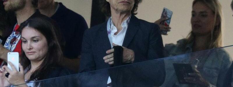 Edelfan - Foto: Auch Mick Jagger, Sänger der Rolling Stones, sah das Halbfinale von der Tribüne aus. Foto: