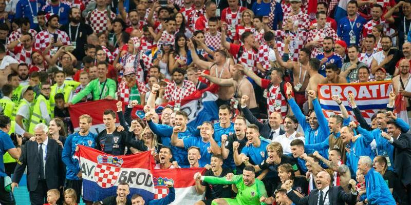Kroatischer Jubel - Foto: Petter Arvidson/Bildbyran via ZUMA Press
