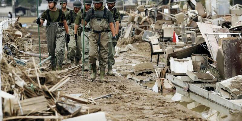 Überschwemmungen in Japan - Foto: Shohei Miyano/Kyodo News