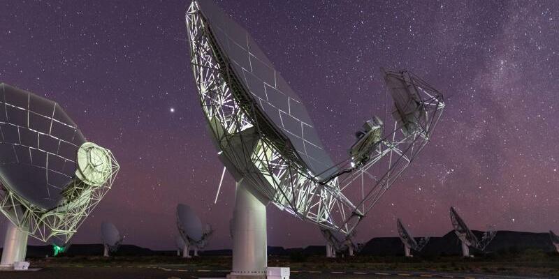 Meerkat-Radioteleskop - Foto: Brendon Wainwright/South African Radio Astronomy Observatory