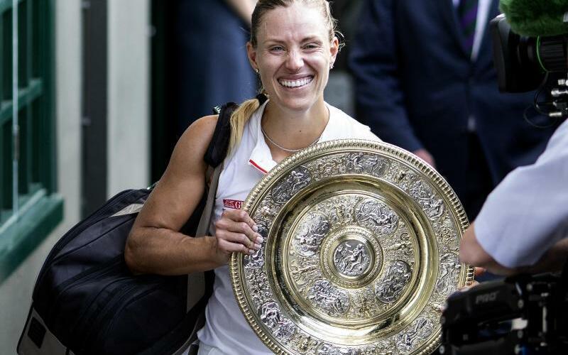 Wimbledon 2018 - Foto: Nach ihrem Wimbledonsieg rückt Angelique Kerber auf Rang vier des WTA-Rankings vor. Foto:Steven Paston/PA Wire