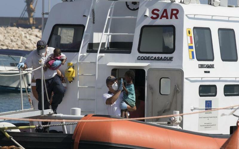 Flüchtlinge in Italien - Foto: Francesco Ruta, ANSA/AP
