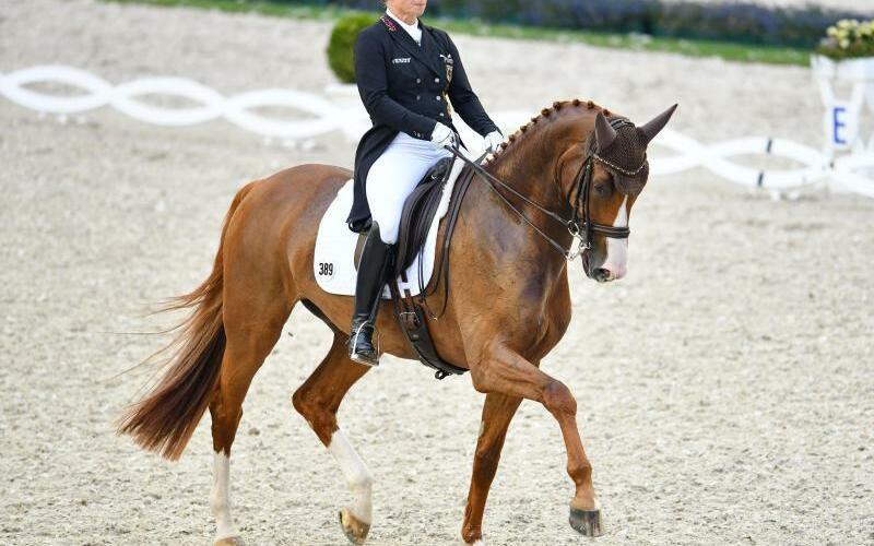 Bella Rose - Foto: Isabell Werth reitet mit Bella Rose im Dressur-Viereck. Foto:Uwe Anspach