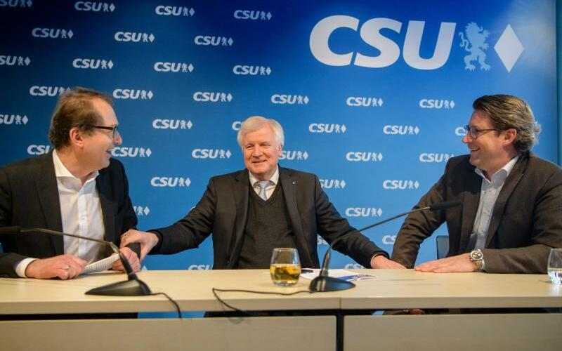 Dobrindt, Seehofer und Scheuer - Foto: Matthias Balk