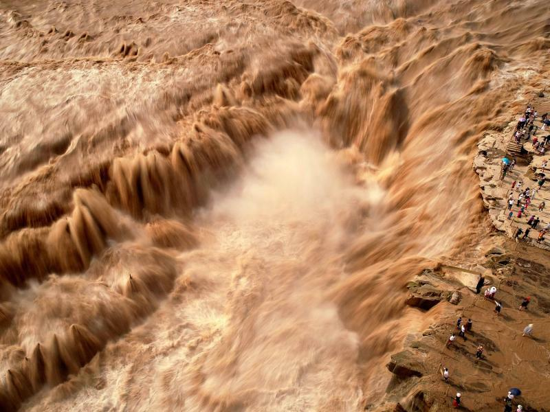 Hukou-Wasserfall in China - Foto: Liu Hongda/XinHua
