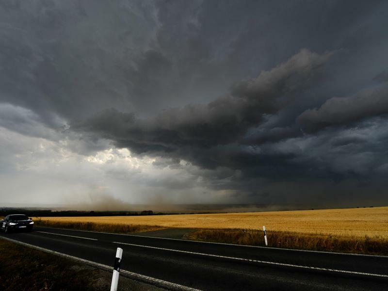 Gewitterwolken bei Mühlhausen - Foto: Frank May