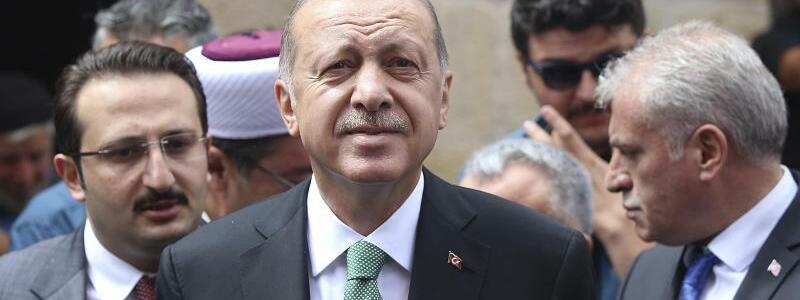 Türkei - Erdogan - Foto: Der Präsident der Türkeit, Recep Tayyip Erdogan: Die türkische Landeswährung Lira befindet sich im freien Fall. Foto:Uncredited