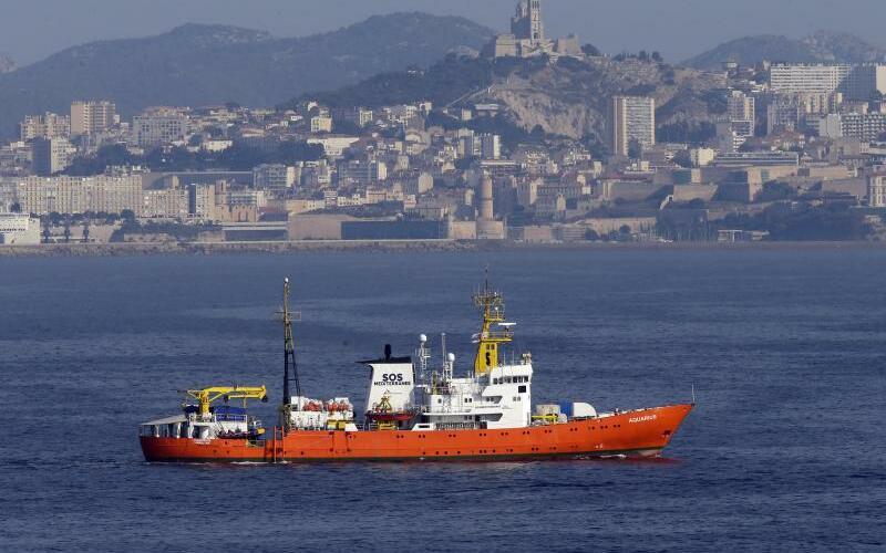 Rettungsschiff «Aquarius» in Marseille - Foto: Claude Paris/AP