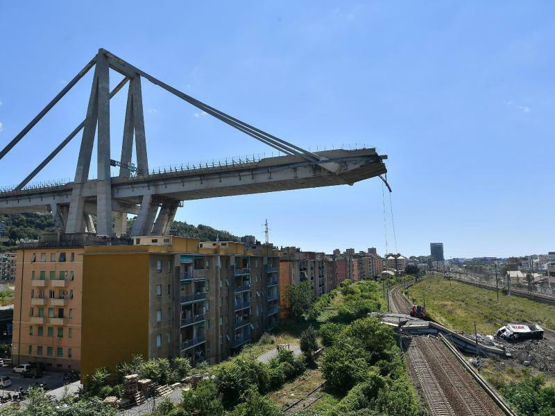 Brückenrest - Foto: Luca Zennaro/ANSA