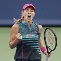Weiter - Foto: Angelique Kerber steht beim Turnier in Cincinnati im Achtelfinale. Foto:John Minchillo/AP