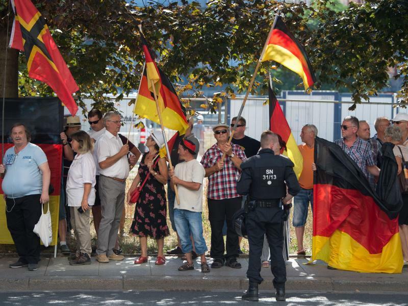 Bundeskanzlerin in Sachsen - Foto: Sebastian Kahnert