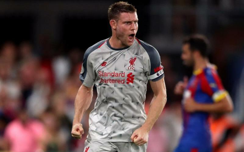 Crystal Palace - FC Liverpool - Foto: Liverpools James Milner bejubelt sein Tor nach einem Elfmeter zur 1:0-Führung gegen Crystal Palace. Foto:Nick Potts/PA Wire
