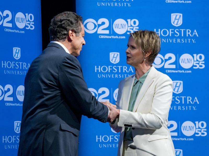 Cynthia Nixon und Andrew Cuomo - Foto: Craig Ruttle/AP