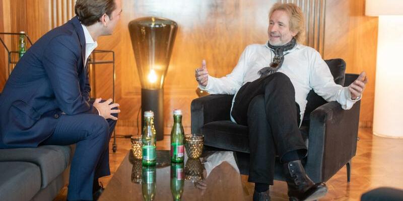 Thomas Gottschalk + Sebastian Kurz - Foto: Jakob Glaser/Bundeskanzleramt