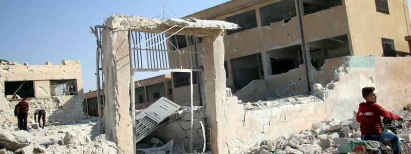 Angriff auf Idlib - Foto: Abed Kontar/EPA/Archiv