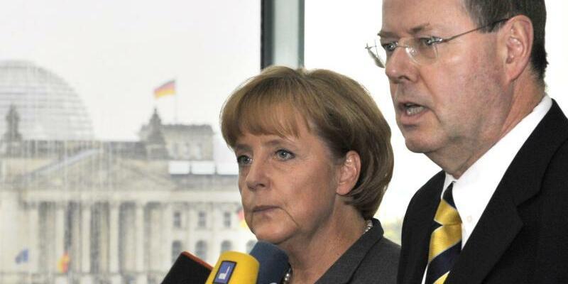 Merkel und Steinbrück - Foto: Rainer Jensen