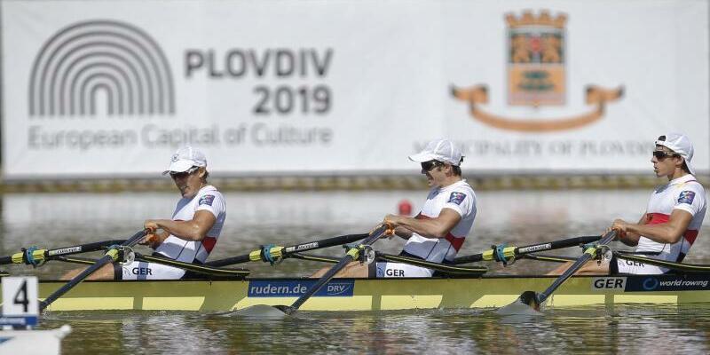 Rudern WM - Foto: Am ersten Finaltag der Ruder-WM in Plowdiw sind in den olympischen Klassen deutsche Boote nur spärlich vertreten. Foto:Darko Vojinovic/AP