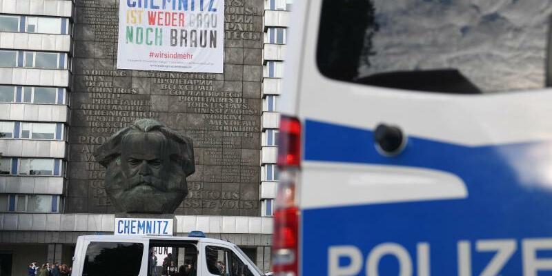 Polizei in Chemnitz - Foto: Hendrik Schmidt