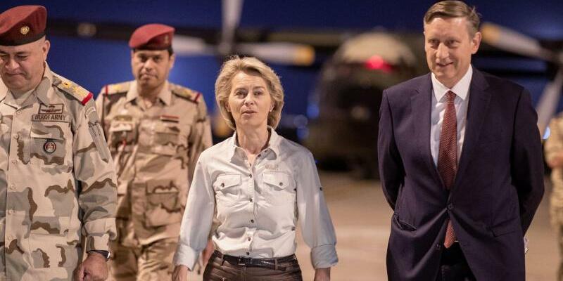 von der Leyen im Irak - Foto: Kay Nietfeld