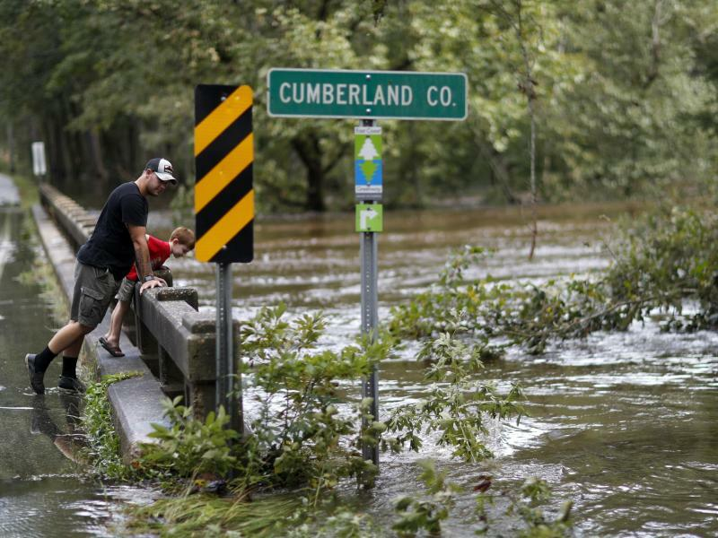 Hochwasser in Fayetteville - Foto: David Goldman/AP
