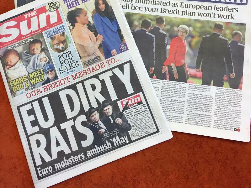 Britische Zeitungen - Foto: Silvia Kuslido