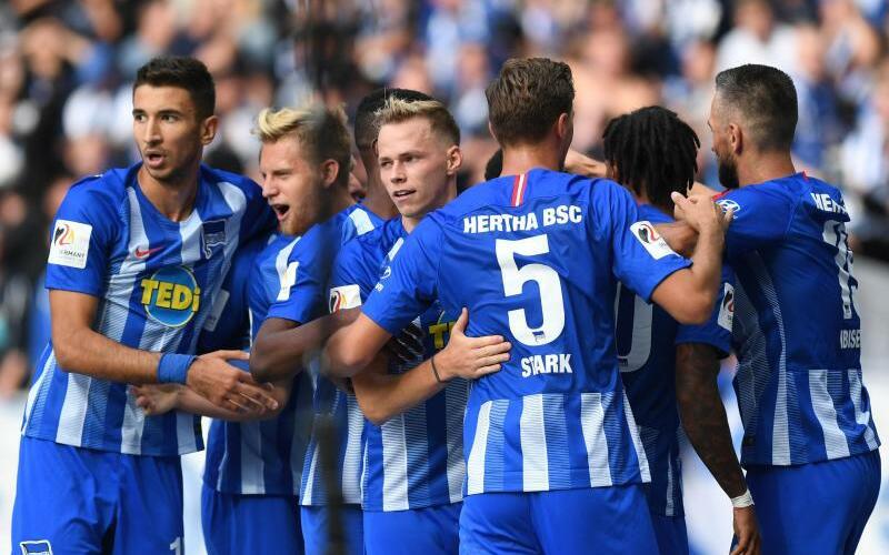 Hertha BSC - Foto: Besser als Hertha BSC ist in der Bundesliga bislang nur Titelverteidiger München. Die Berliner sind zum Auftakt der Englischen Woche in Bremen zu Gast. Foto:Soeren Stache