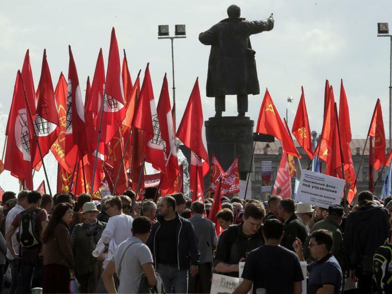 Demonstration - Foto: Dmitri Lovetsky/AP