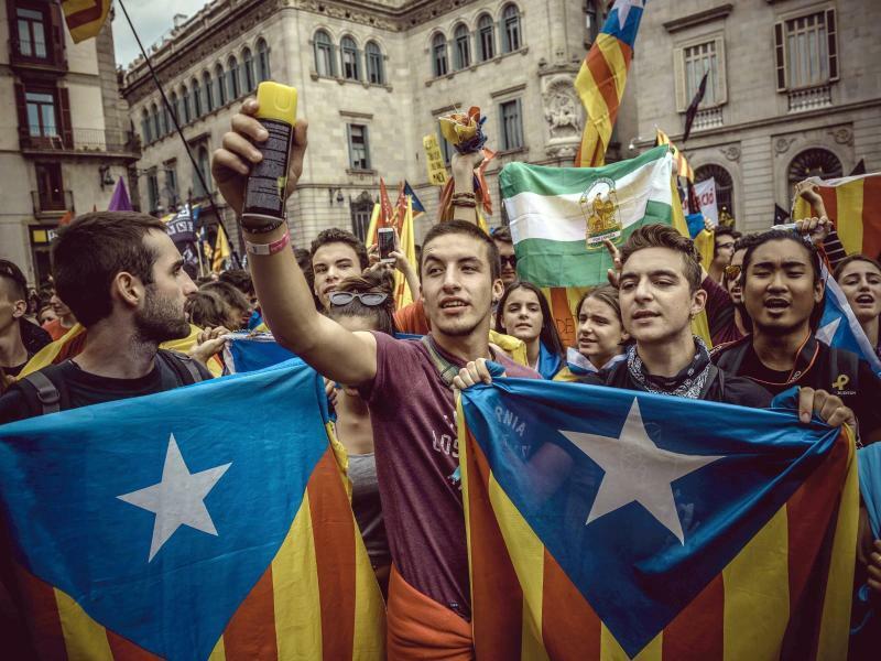 Jahrestag des Unabhängigkeitsreferendums - Foto: Matthias Oesterle/ZUMA Wire