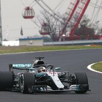 Schnellster - Foto: Lewis Hamilton fuhr im ersten Training die schnellste Runde. Foto:Toru Takahashi/AP