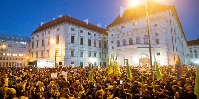 Protest gegen Regierung in Wien - Foto: Georg Hochmuth/APA