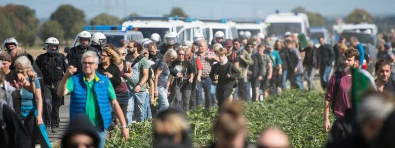Protest am Hambacher Forst - Foto: Jana Bauch
