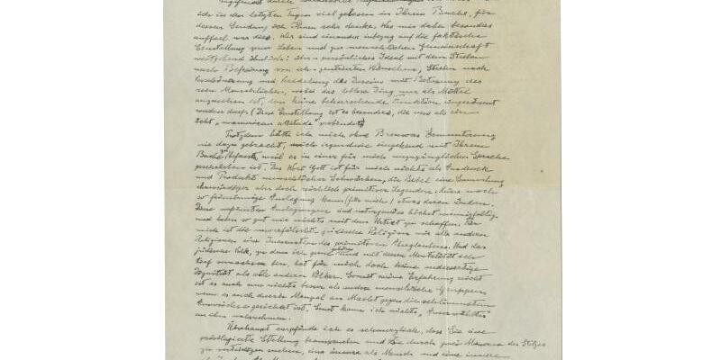 Handgeschriebener Einstein-Brief - Foto: -/CHRISTIE'S IMAGES LTD. 2018