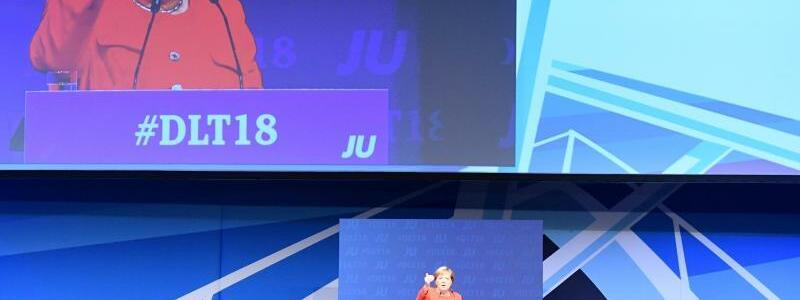 Merkel bei der Jungen Union - Foto: Carsten Rehder